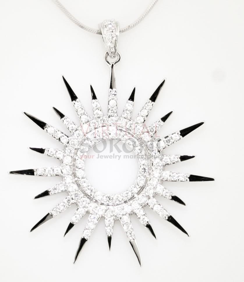 Sterling Silver Sundial Pendant at VirtualSokoni.com