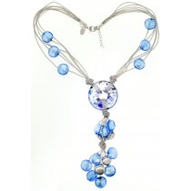 Blue Venetian Glass Necklace Limited Edition by Frederic Duclos at VirtualSokoni.com