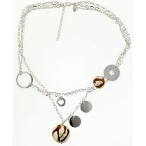 Brown Venetian Glass Necklace by Frederic Duclos at VirtualSokoni.com