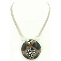 Frederic Duclos Limited Edition Silver & Venetian Glass Necklace at VirtualSokoni.com