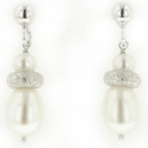 Cultured Freshwater Pearl Earrings by Frederic Duclos at VirtualSokoni.com