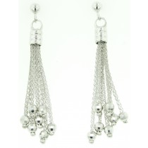 Multichain Sterling Silver Earrings by Frederic Duclos at VirtualSokoni.com